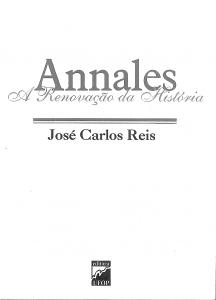Capa para Annales: A Revolução da História